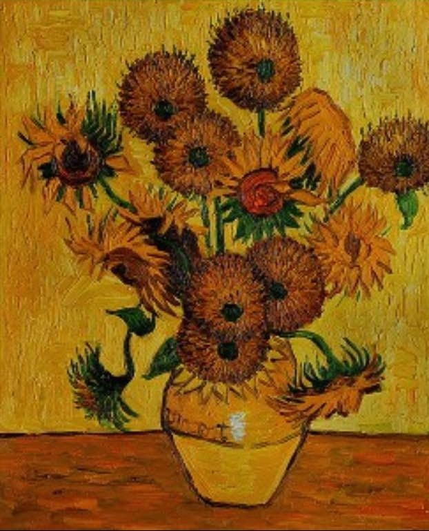 Wine Down Wednesday - Van Gogh Sunflower Painting